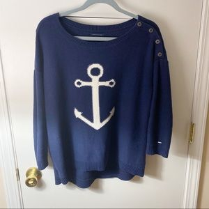 Tommy Hilfiger Navy Blue Anchor Sweater